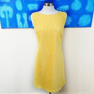 Ann Taylor LOFT Yellow Eyelet Dress